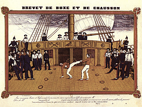 chausson on board ship
